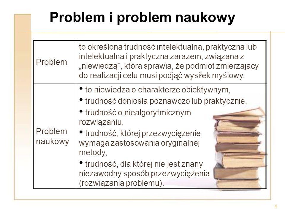 Problem i problem naukowy