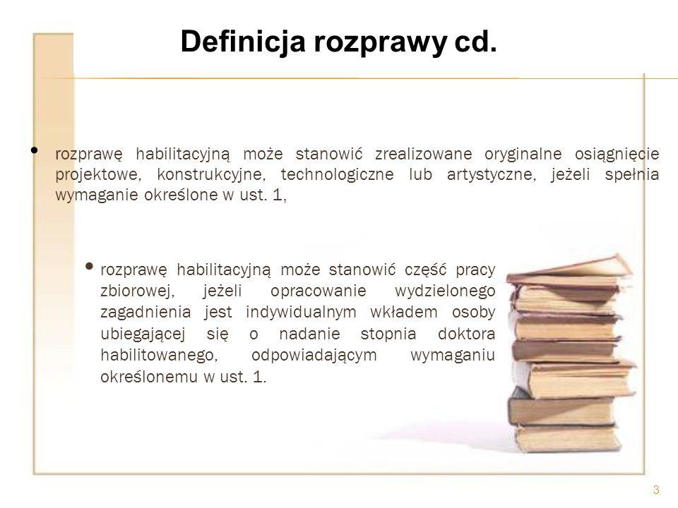 Definicja rozprawy cd.