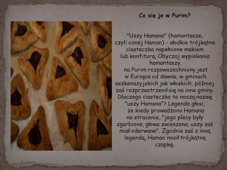 Co się je w Purim Uszy Hamana (hamantasze,