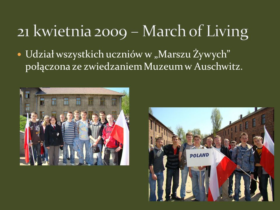 21 kwietnia 2009 – March of Living