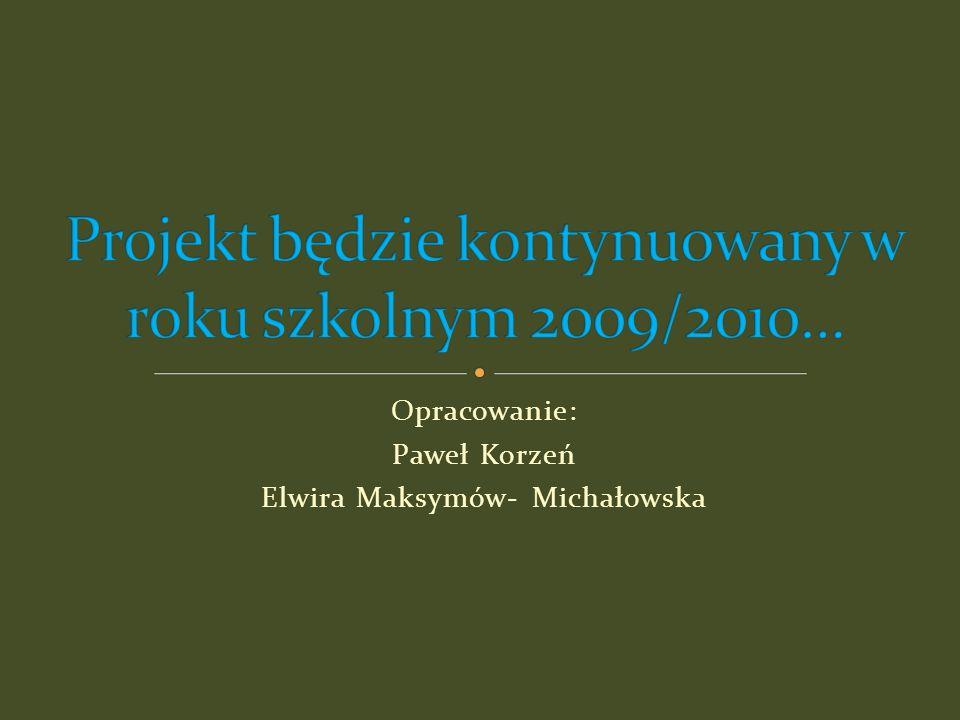 Projekt będzie kontynuowany w roku szkolnym 2009/2010…
