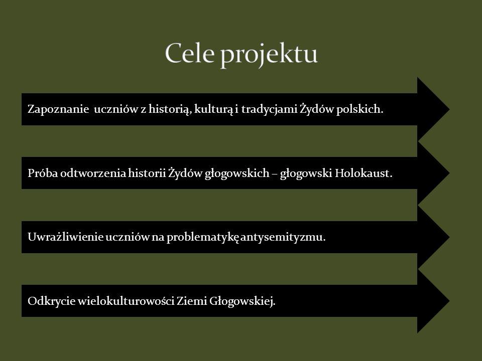 Cele projektu Zapoznanie uczniów z historią, kulturą i tradycjami Żydów polskich.