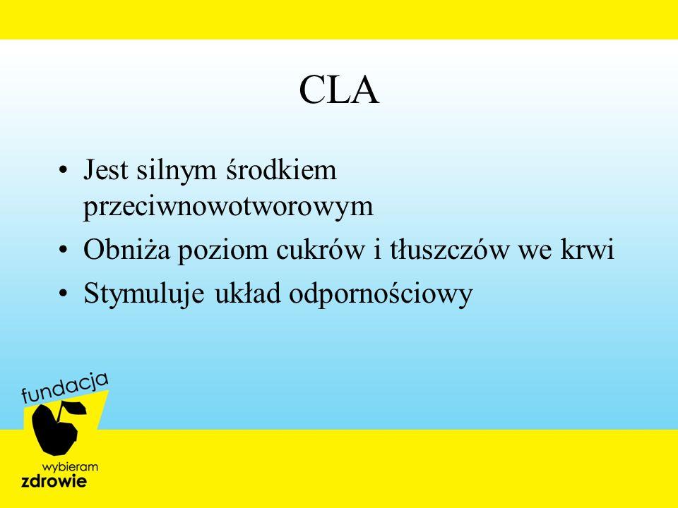 CLA Jest silnym środkiem przeciwnowotworowym