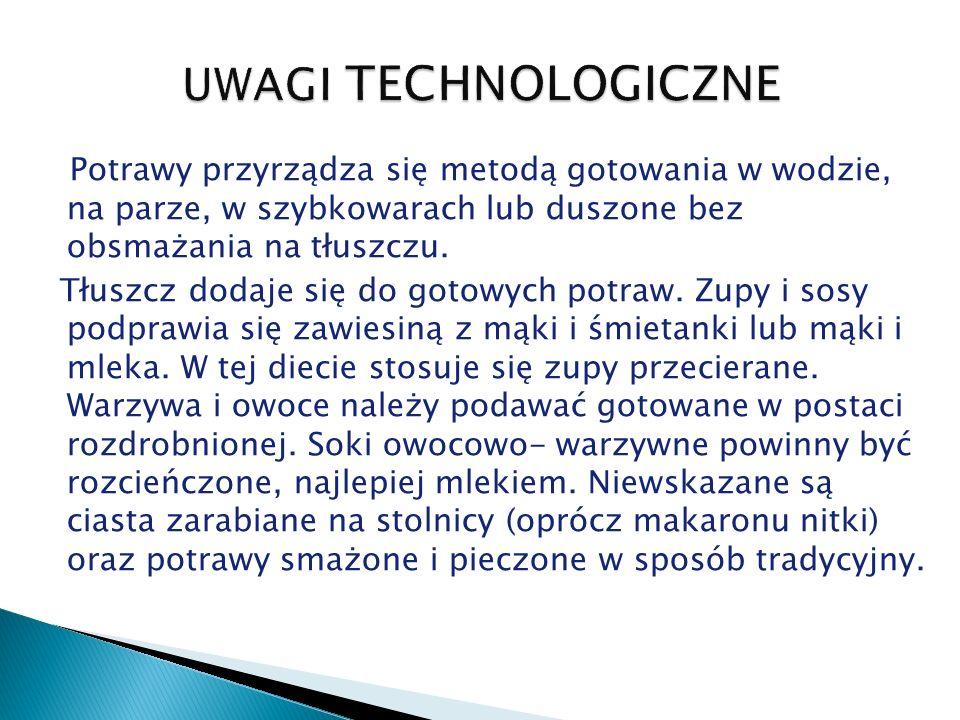 UWAGI TECHNOLOGICZNE