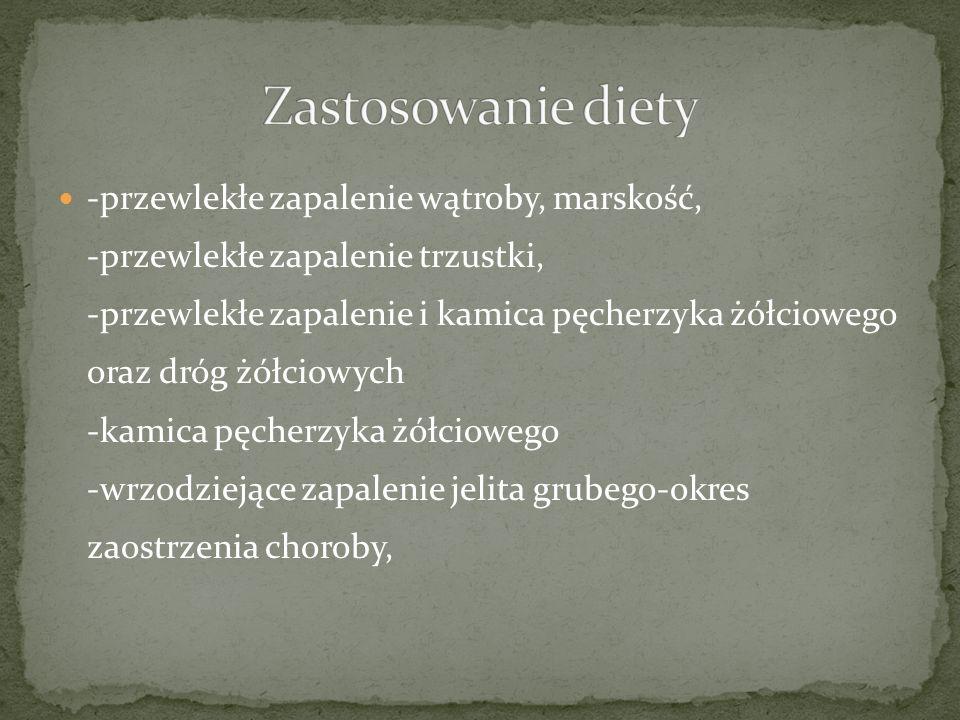 Zastosowanie diety