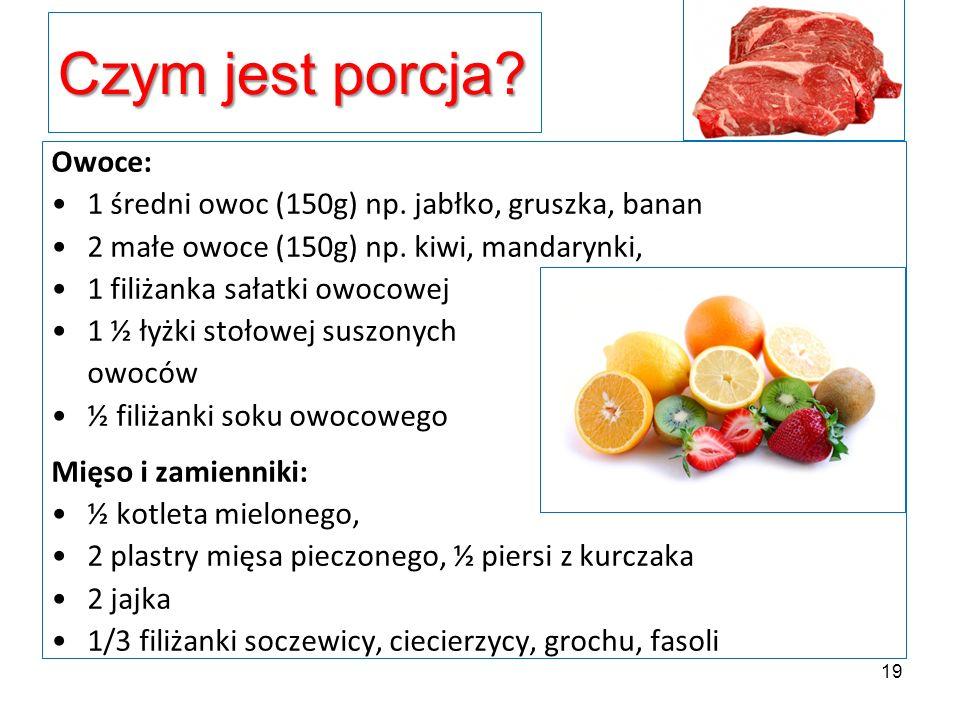 Czym jest porcja Owoce: