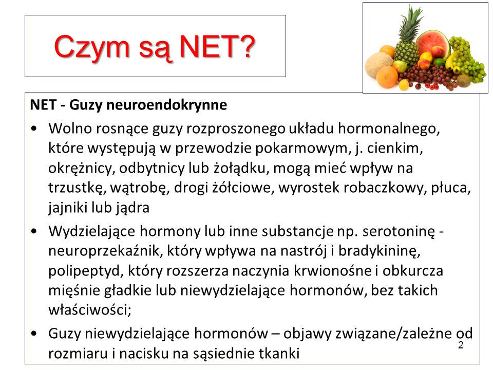 Czym są NET NET - Guzy neuroendokrynne