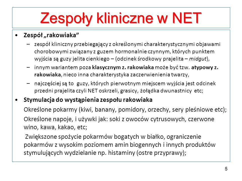 Zespoły kliniczne w NET