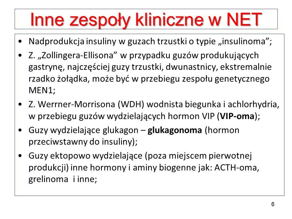 Inne zespoły kliniczne w NET
