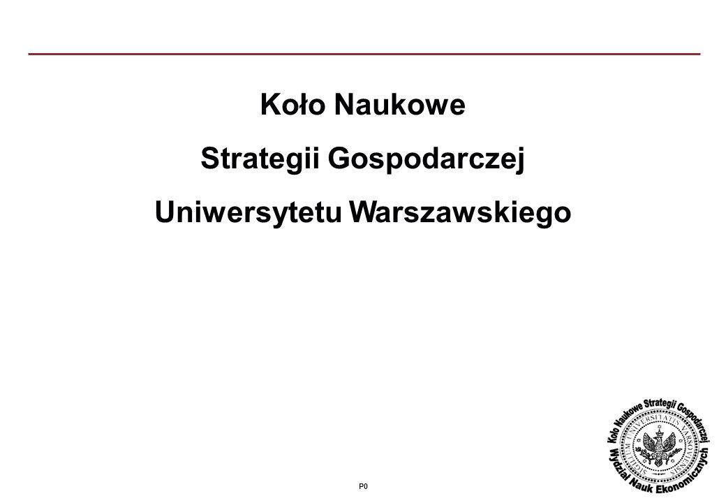 Strategii Gospodarczej Uniwersytetu Warszawskiego