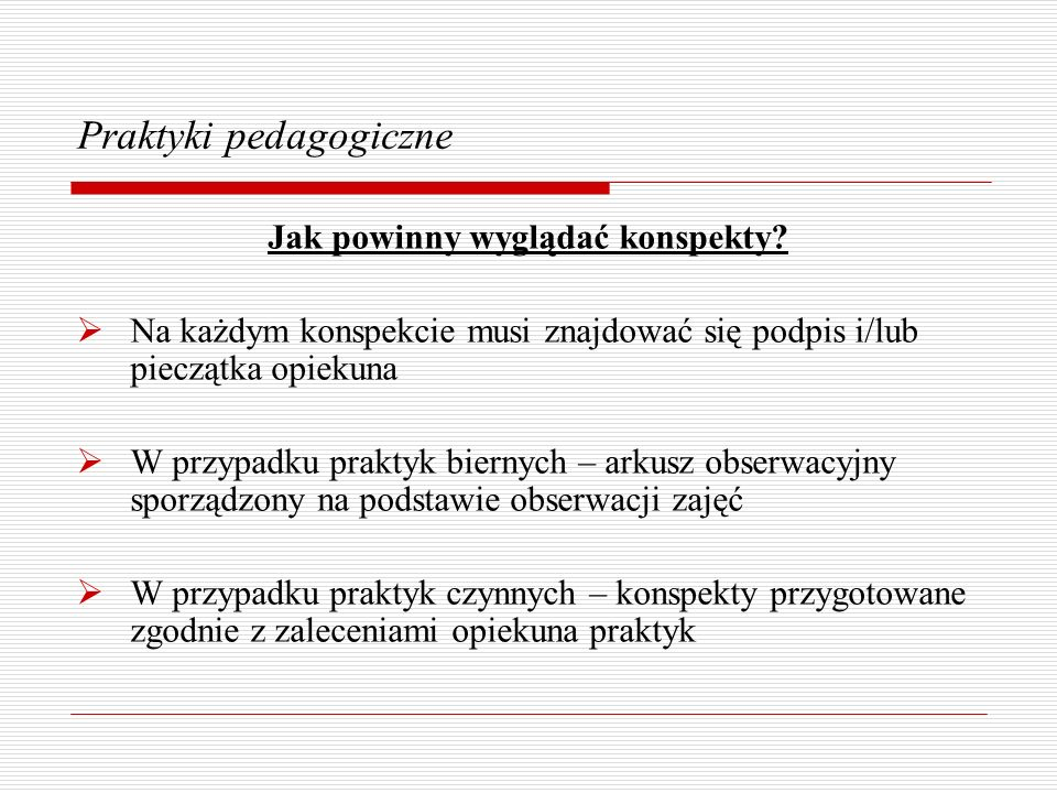 Praktyki pedagogiczne
