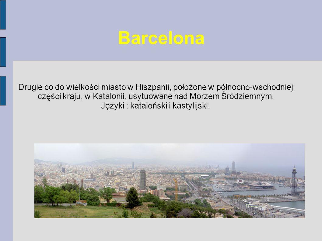 Języki : kataloński i kastylijski.