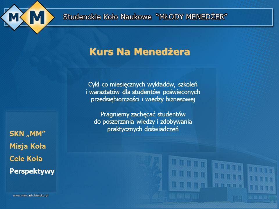 """Kurs Na Menedżera SKN """"MM Misja Koła Cele Koła Perspektywy"""