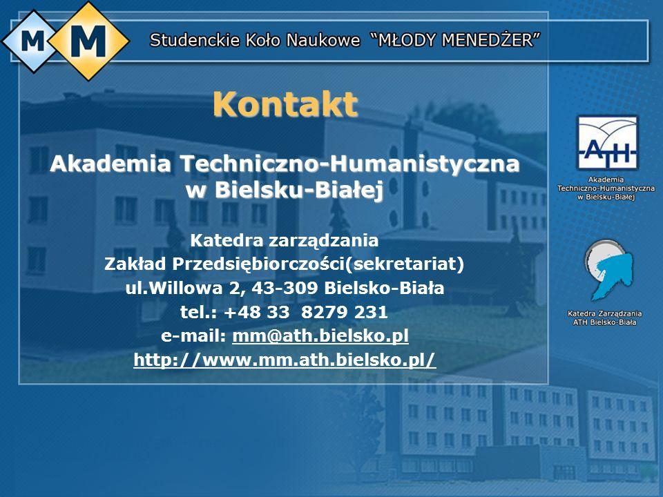 Kontakt Akademia Techniczno-Humanistyczna w Bielsku-Białej
