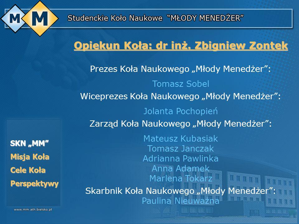 Opiekun Koła: dr inż. Zbigniew Zontek