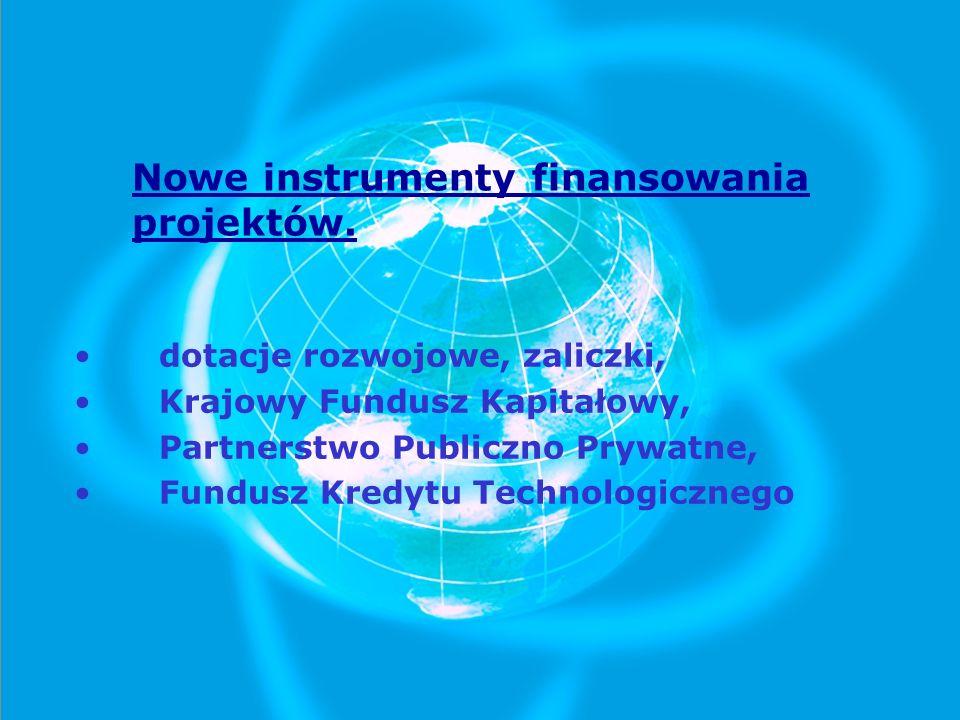 Nowe instrumenty finansowania projektów.