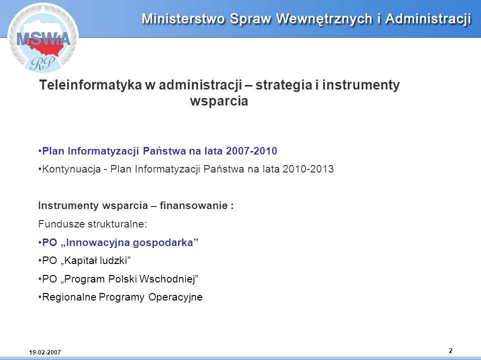 Teleinformatyka w administracji – strategia i instrumenty wsparcia