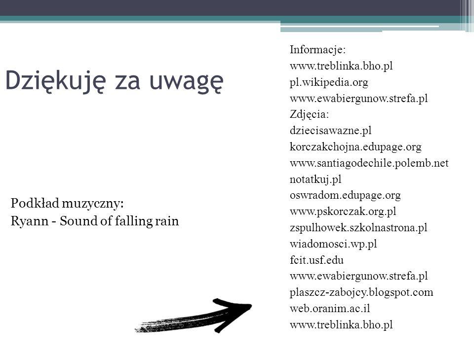 Dziękuję za uwagę Podkład muzyczny: Ryann - Sound of falling rain
