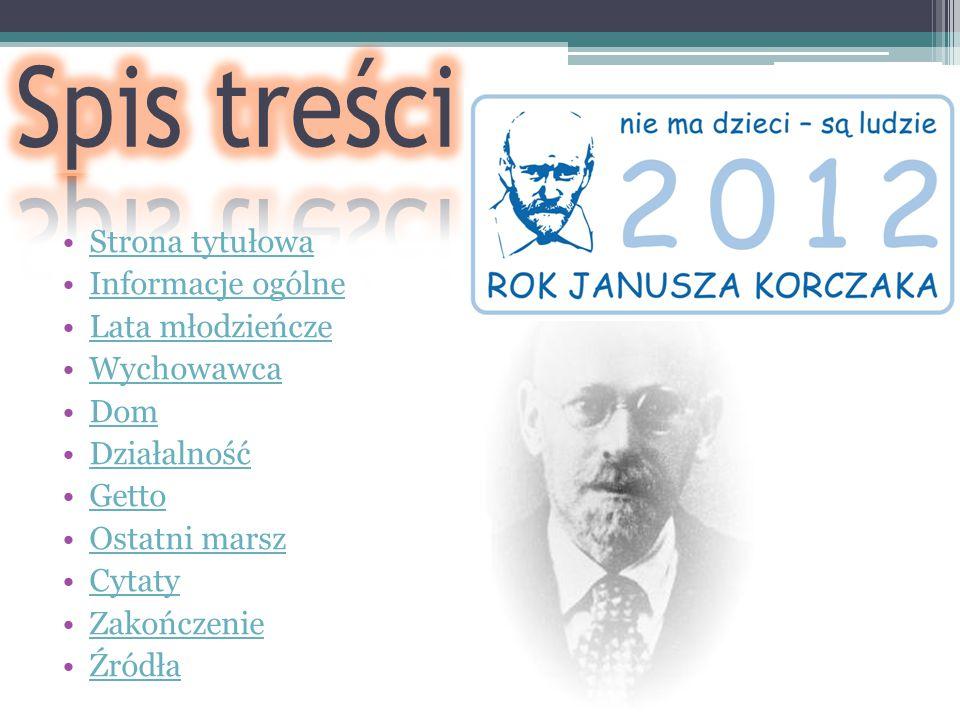 Spis treści Strona tytułowa Informacje ogólne Lata młodzieńcze
