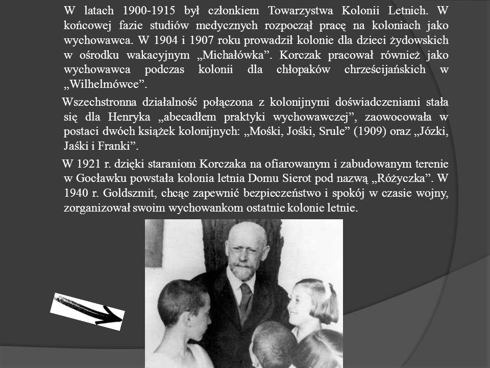 W latach 1900-1915 był członkiem Towarzystwa Kolonii Letnich