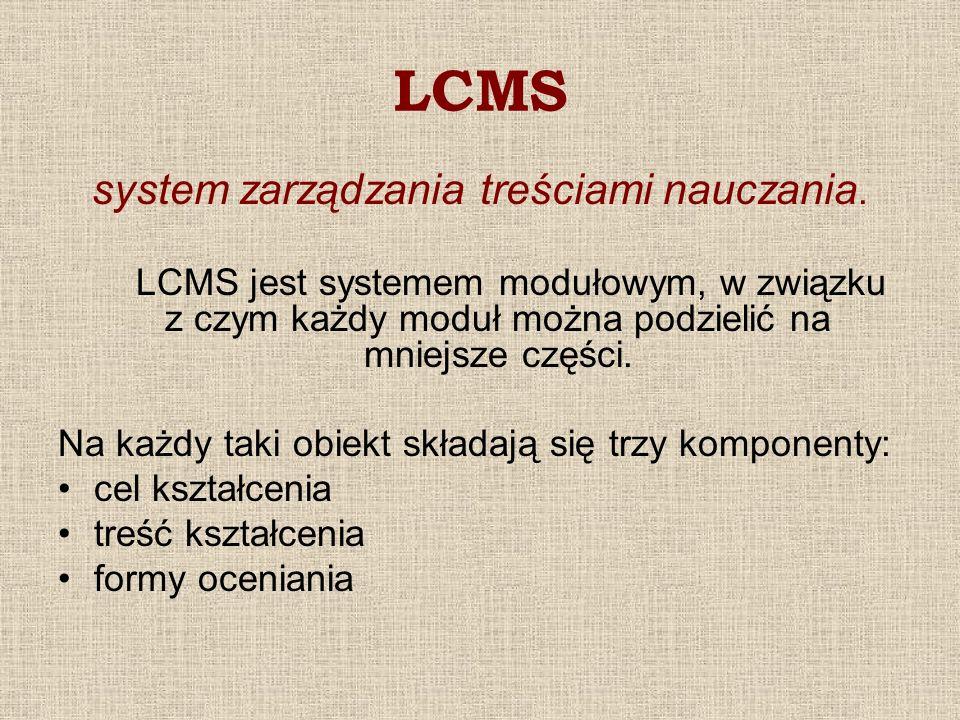 system zarządzania treściami nauczania.