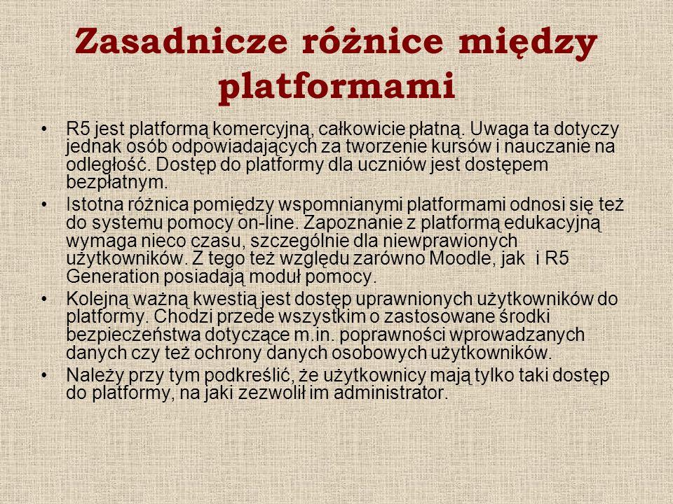 Zasadnicze różnice między platformami