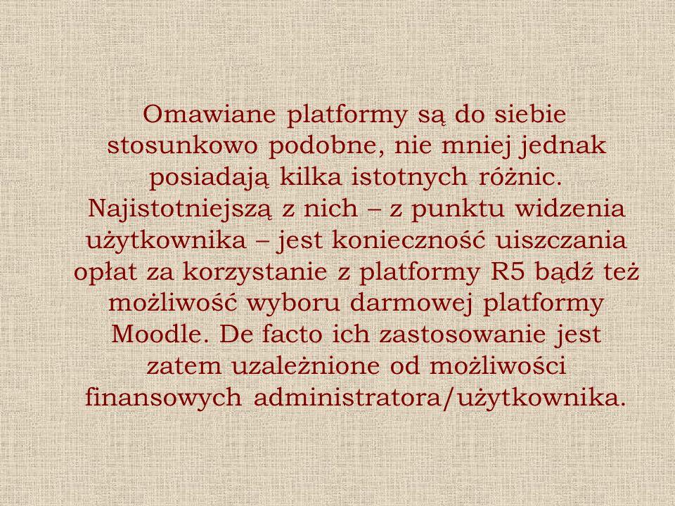 Omawiane platformy są do siebie stosunkowo podobne, nie mniej jednak posiadają kilka istotnych różnic.