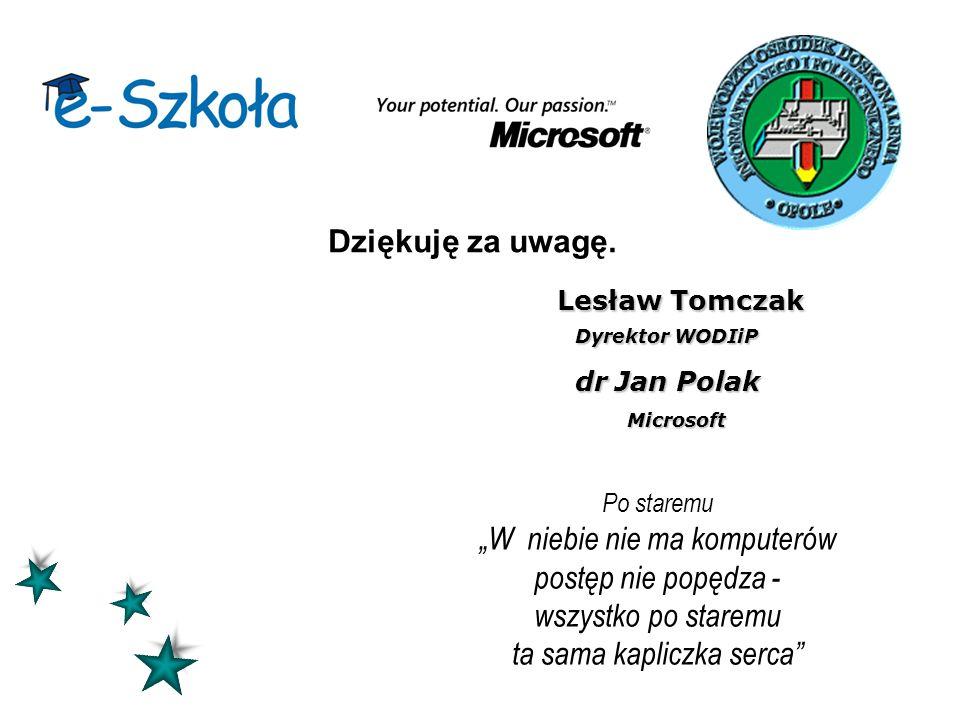 Lesław Tomczak Dyrektor WODIiP