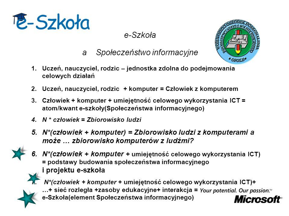 e-Szkoła a Społeczeństwo informacyjne