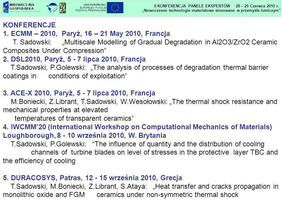 1. ECMM – 2010, Paryż, 16 – 21 May 2010, Francja