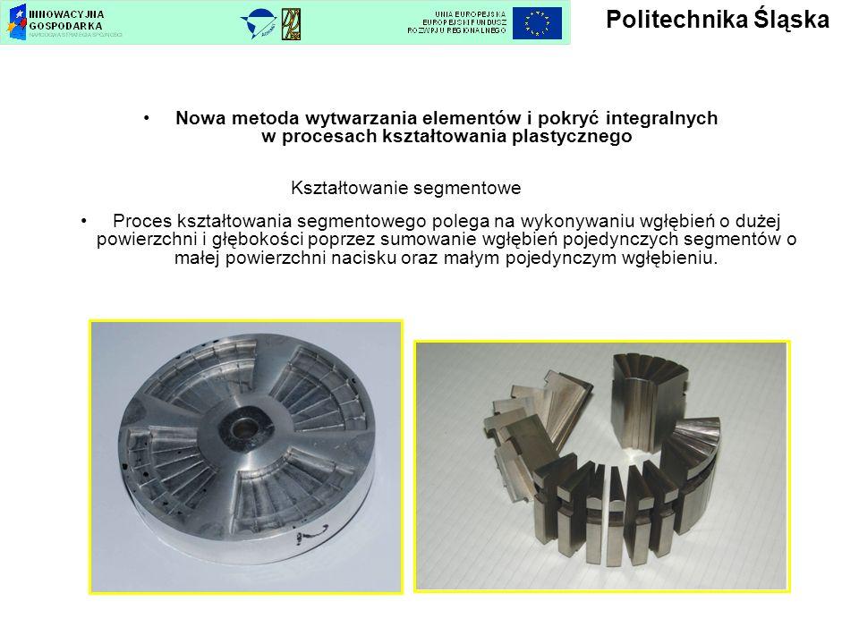 Politechnika ŚląskaNowa metoda wytwarzania elementów i pokryć integralnych w procesach kształtowania plastycznego Kształtowanie segmentowe.