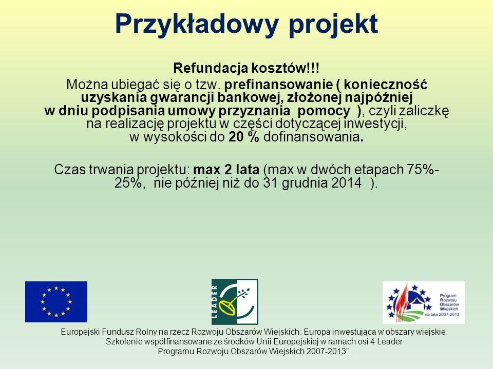 Przykładowy projekt Refundacja kosztów!!!