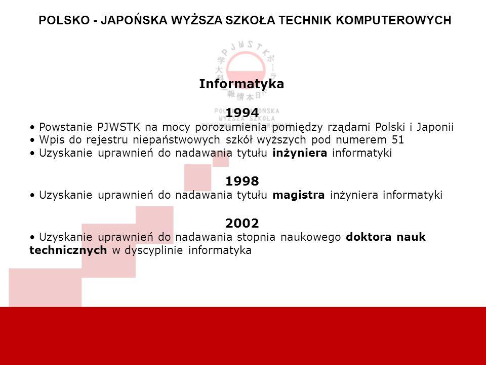 POLSKO - JAPOŃSKA WYŻSZA SZKOŁA TECHNIK KOMPUTEROWYCH