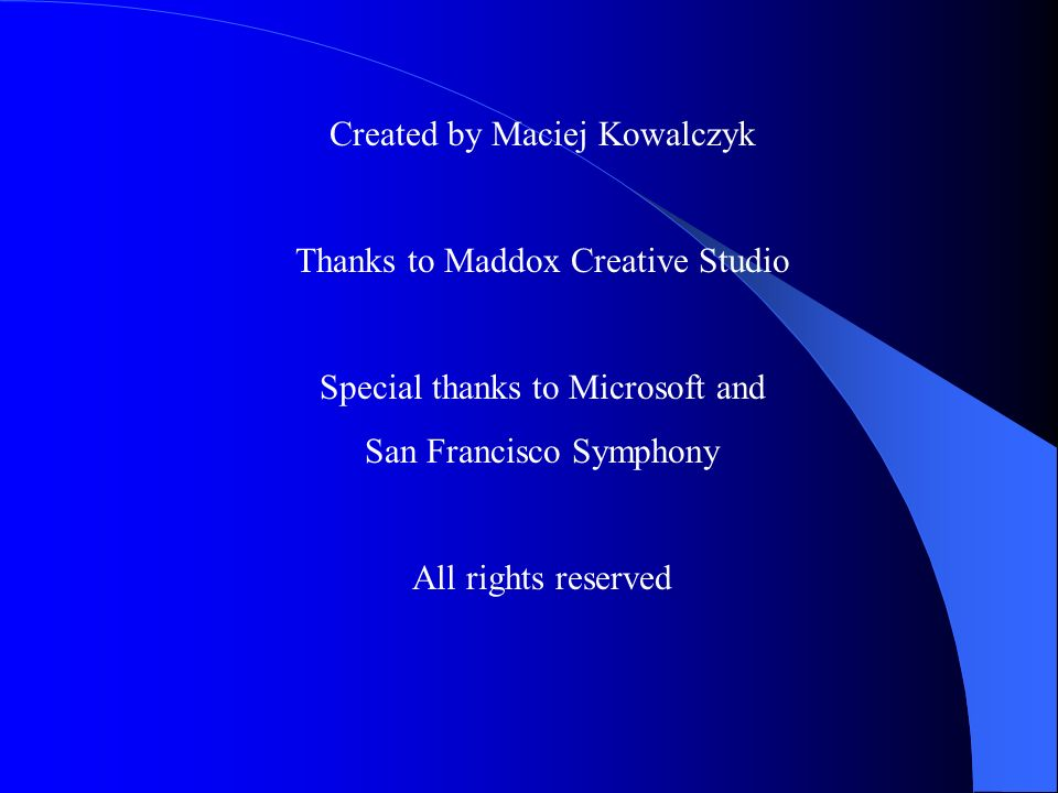 Created by Maciej Kowalczyk