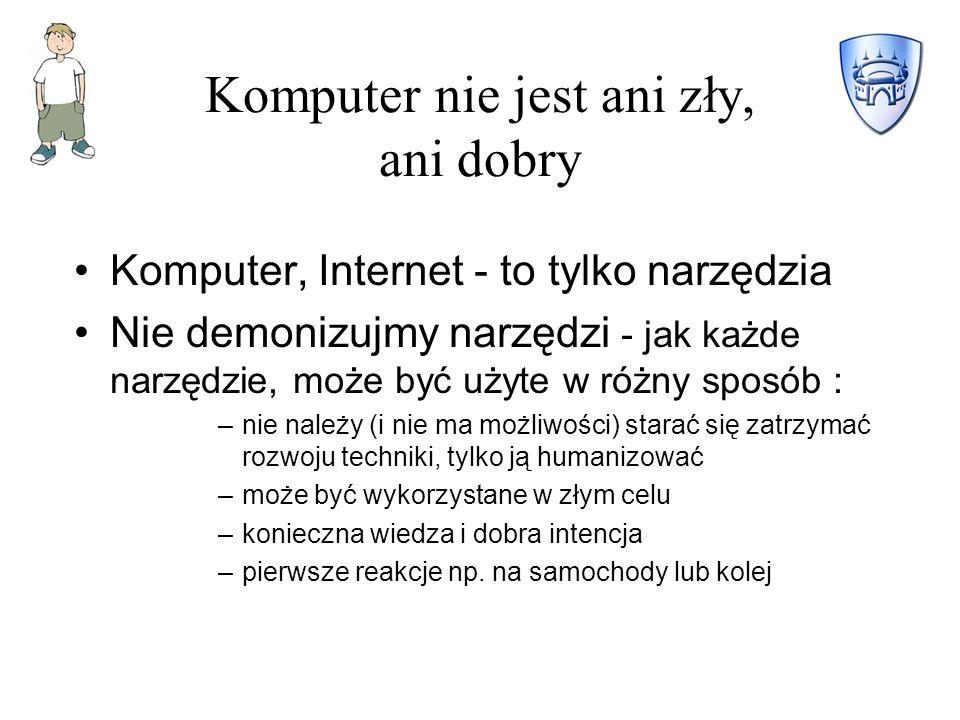 Komputer nie jest ani zły, ani dobry