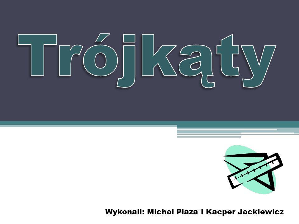 Trójkąty Wykonali: Michał Płaza i Kacper Jackiewicz