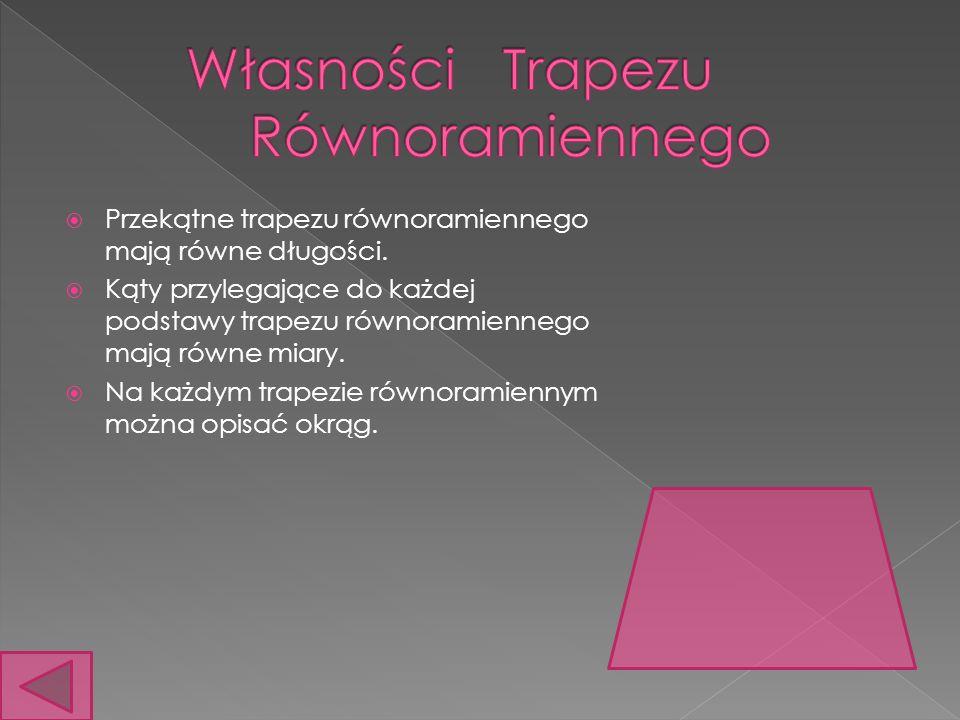 Własności Trapezu Równoramiennego