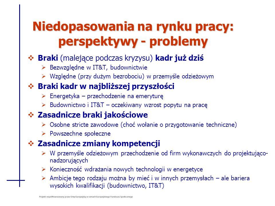 Niedopasowania na rynku pracy: perspektywy - problemy