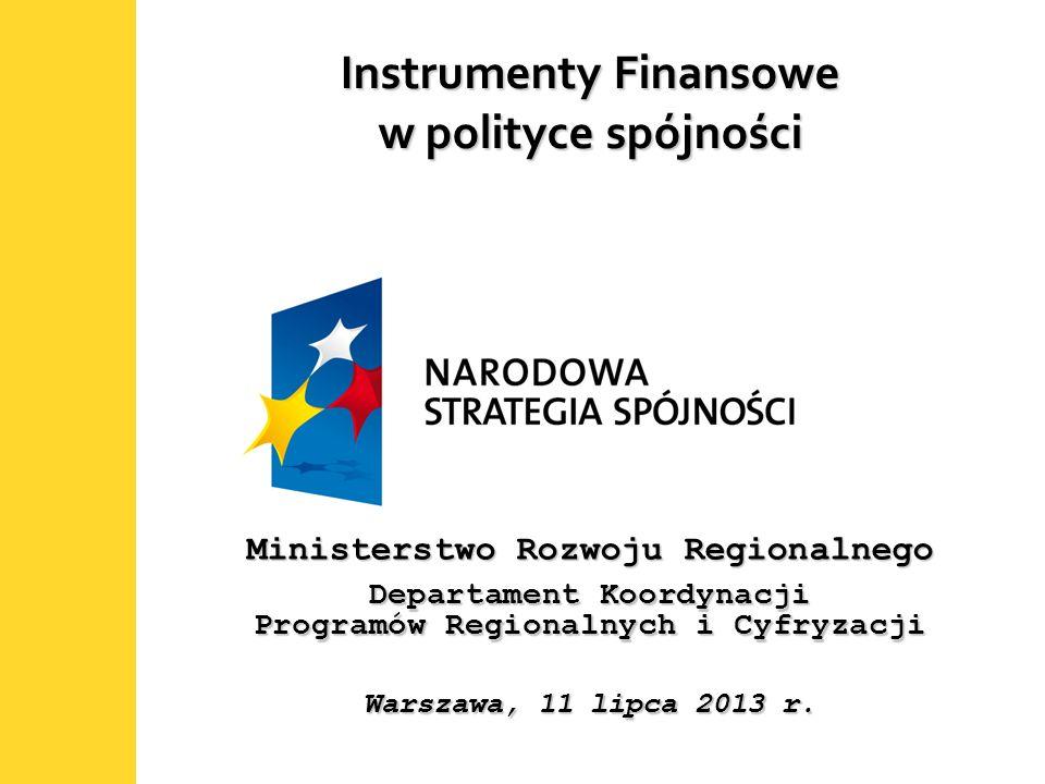 Instrumenty Finansowe w polityce spójności