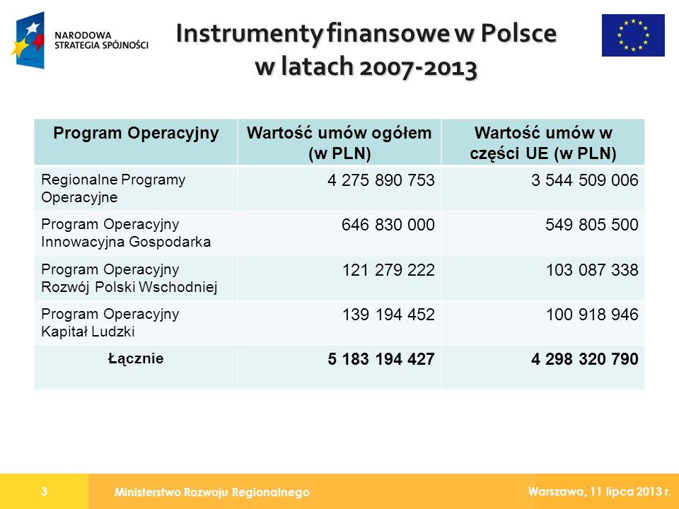 Instrumenty finansowe w Polsce w latach 2007-2013