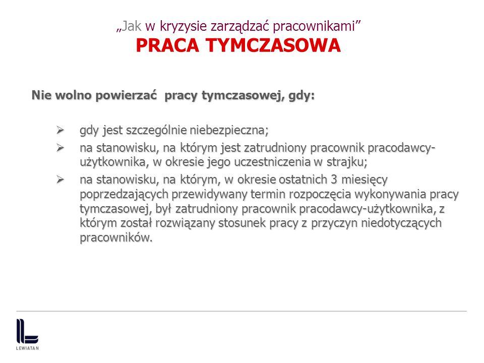 """""""Jak w kryzysie zarządzać pracownikami PRACA TYMCZASOWA"""