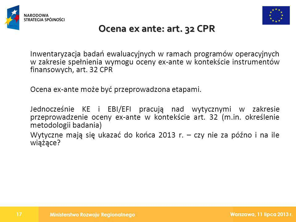 Ocena ex ante: art. 32 CPR