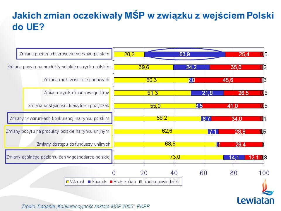 Jakich zmian oczekiwały MŚP w związku z wejściem Polski do UE