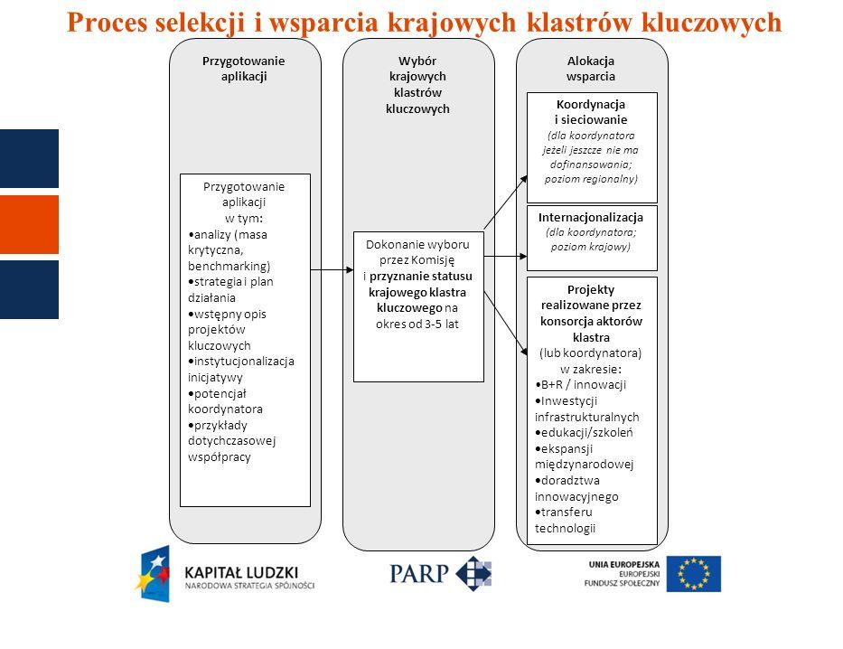 Proces selekcji i wsparcia krajowych klastrów kluczowych