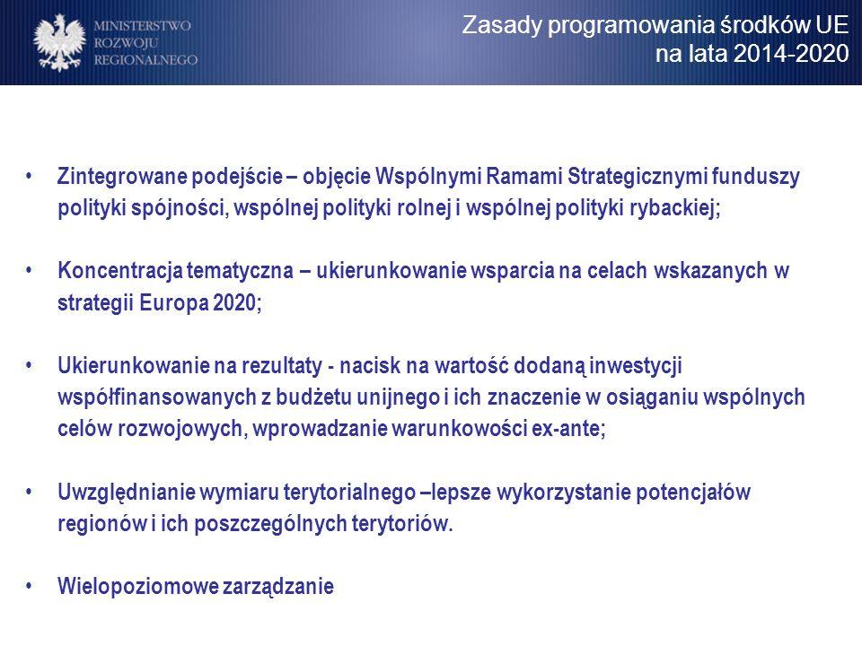 Zasady programowania środków UE na lata 2014-2020