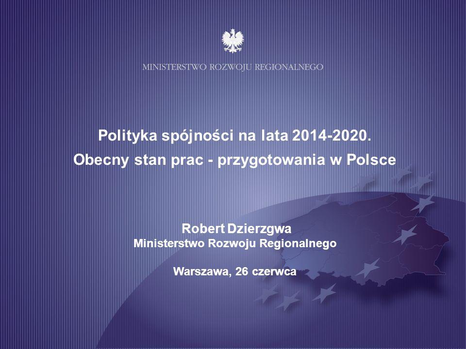 Polityka spójności na lata 2014-2020.