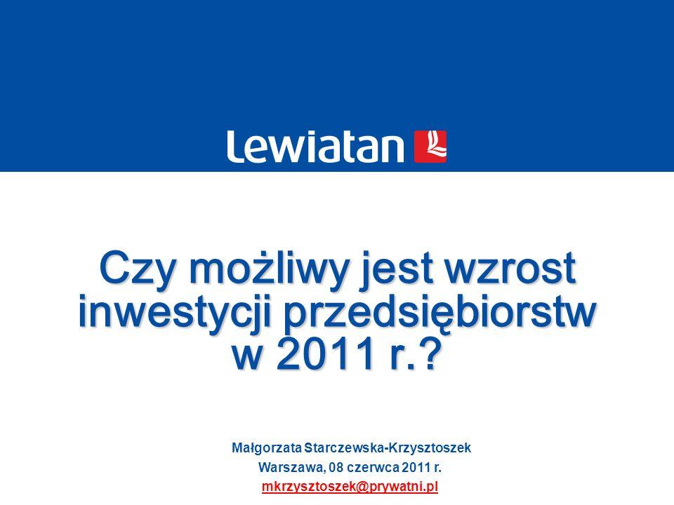 Czy możliwy jest wzrost inwestycji przedsiębiorstw w 2011 r.