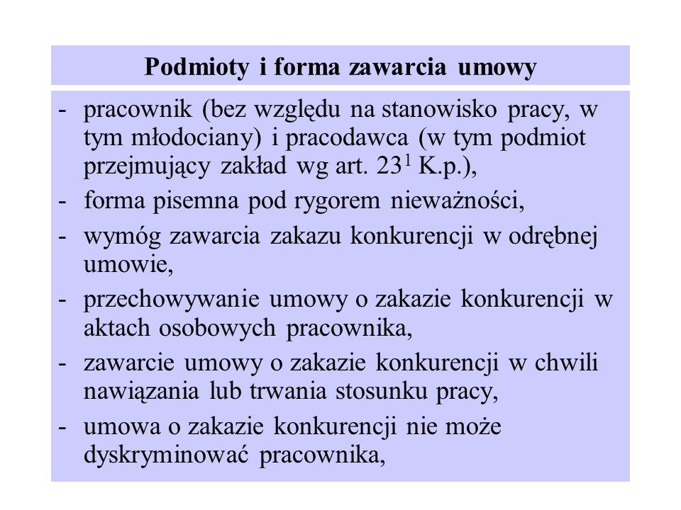 Podmioty i forma zawarcia umowy