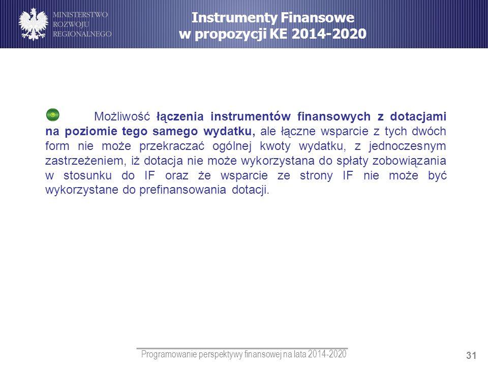 Instrumenty Finansowe w propozycji KE 2014-2020