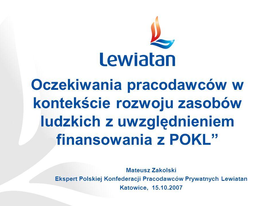 Ekspert Polskiej Konfederacji Pracodawców Prywatnych Lewiatan